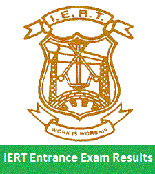 IERT Entrance Exam Result 2018 IERT Allahabad Entrance Exam Result 2018