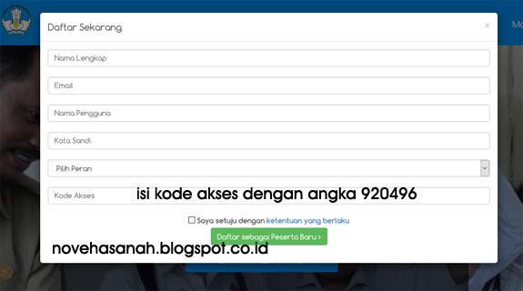 cara mendaftar dan menggunakan formulir di halaman depan situs sertifikasiguru.id wahan belajar mandiri PLPG 2016