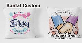 Bantal Custom merupakan salah satu ide hadiah kejutan untuk kekasih