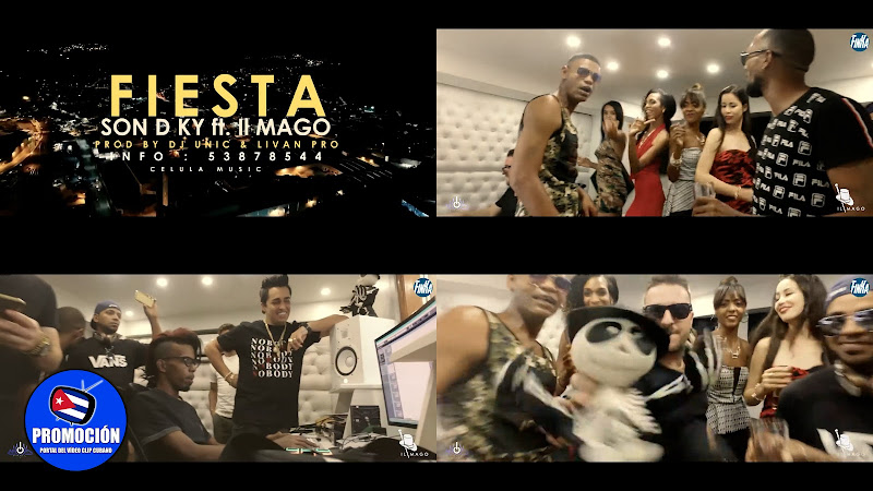 SON D KY & II Mago - ¨Fiesta mi gente quiere Fiesta¨ - Videoclip - Director: Dj Unic. Portal Del Vídeo Clip Cubano. Música cubana. Reguetón. Cuba.