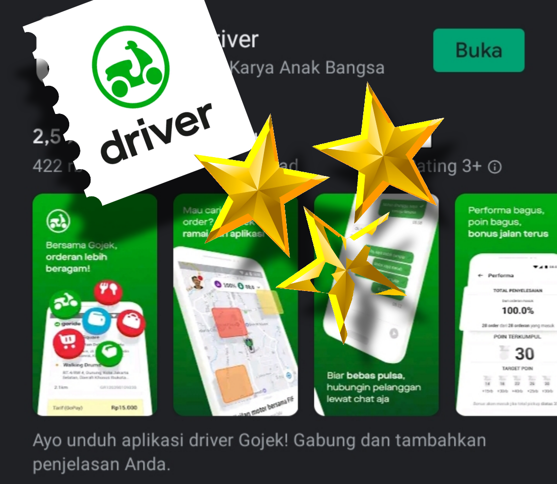 Rating Gojek Driver Di Playstore Sempat Down Masrodi