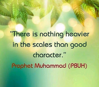 Hadith on importance of good character