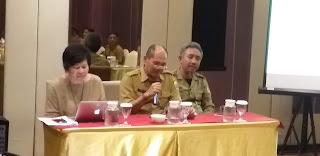 Staf Ahli Bappeda Provinsi Jambi Secara Resmi Membuka Bimtek Inventarisasi Gas Rumah kaca Kota Jambi