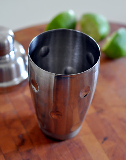Cocktail Shaker and Limes   Taste As You Go