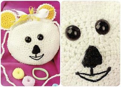 Bolsito Infantil Crochet con Cara de Osito
