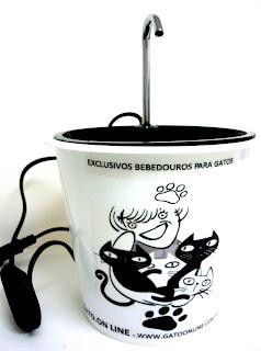 BEBEDOURO PLÁSTICO GATOONLINE BRANCO