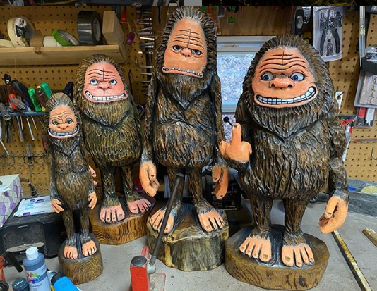 Totally Squatchy - Jim Haggart Carvings