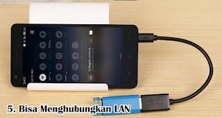 Bisa Menghubungkan LAN adalah salah satu manfaat USB OTG