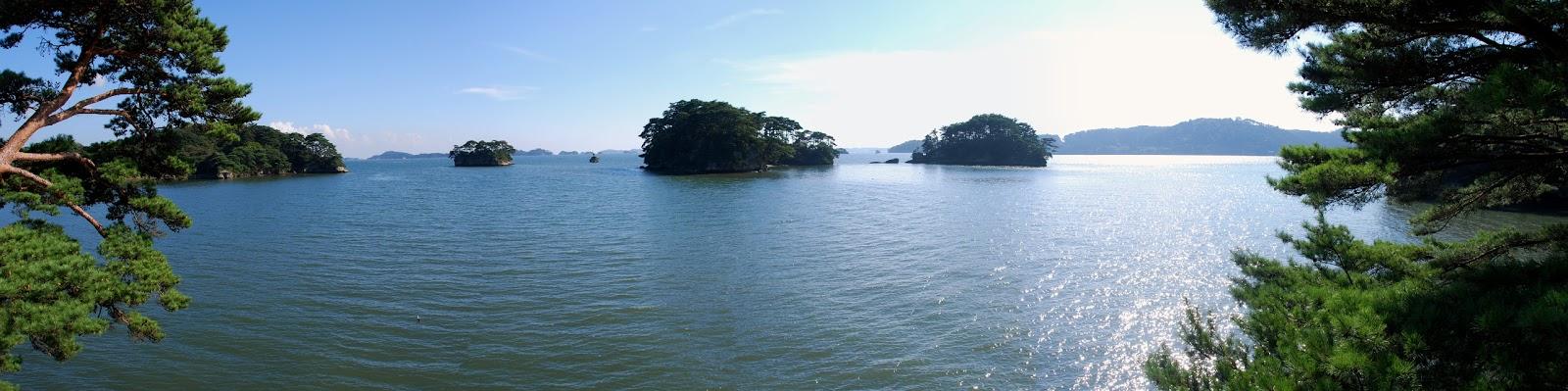 松島の海のパノラマ