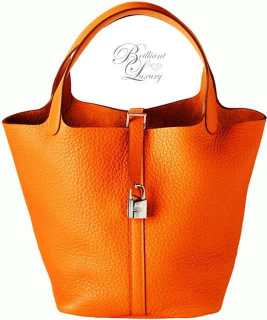 Brilliant Luxury ♦ Hermès Orange Picotin Lock Bag