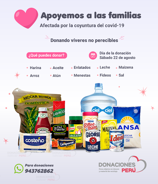 Apoyemos a las familias afectadas por la coyuntura del covid-19  de los AA.HH en Villa el Salvador