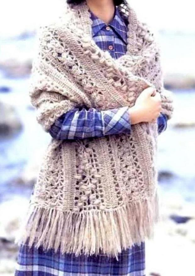 Crochet Shawls: Crochet Shawl - Crochet Shawl Wrap For Winter