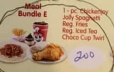 Jollibee Party Meal Bundle E