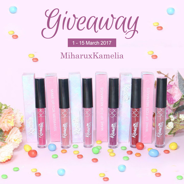 Giveaway lip cream matte kamelia