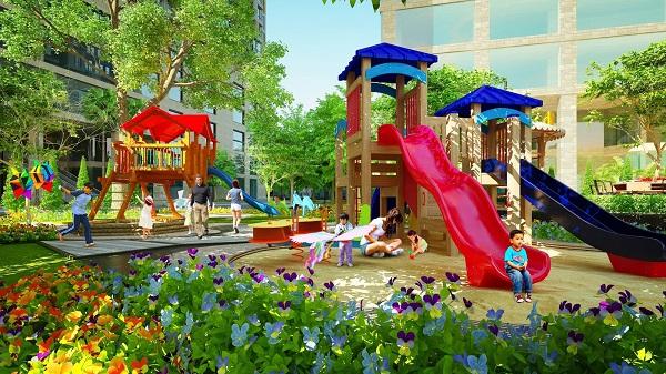 Khuôn viên vui chơi cho trẻ em tại Louis City