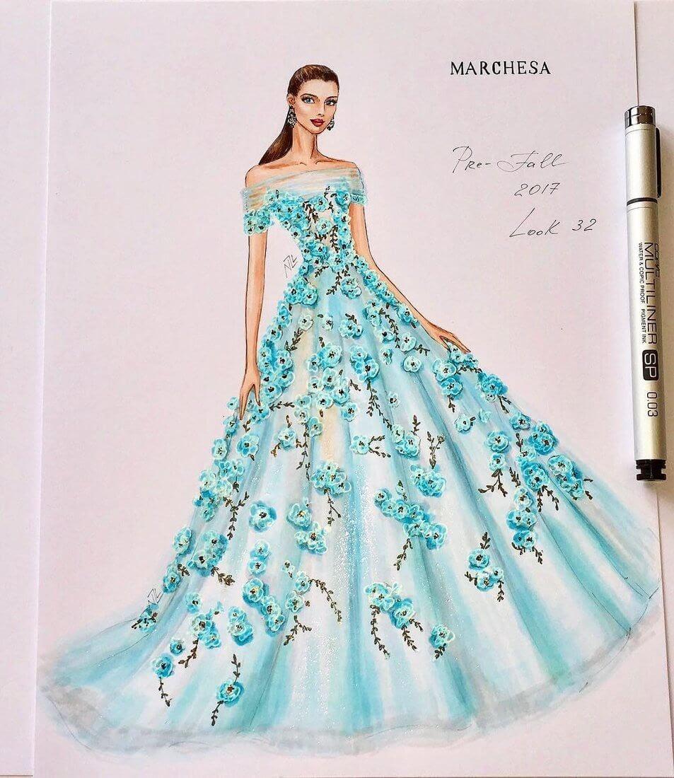 10-Marchesa-collection-Pre-fall-2017-NataliaZ-Liu-Designs-of-Fashion-Haute Couture-www-designstack-co