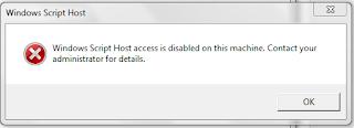 Cara Mengatasi Windows Script Host Access is Disabled on this Machine