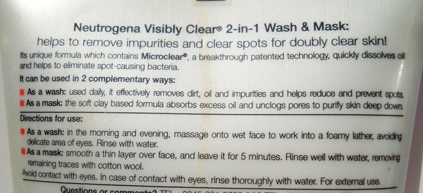 Neutrogena Visibly Clear 2 in 1