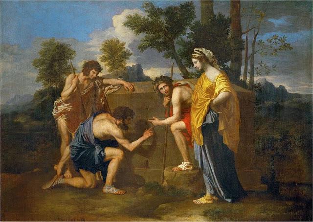 Nicolas Poussin. Los pastores de la Arcadia. Museo del Louvre