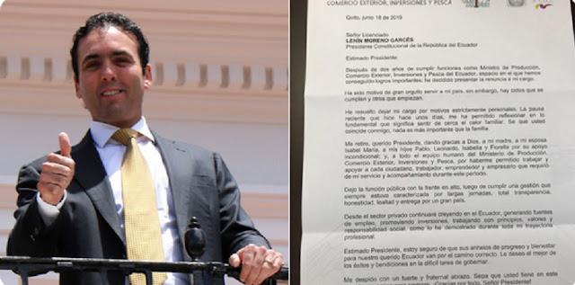 Pablo Campana deja el ministerio de Comercio Exterior