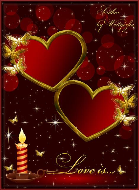 PSD Wedding and Love Backgrounds, تحميل تصميم قلوب وفراشات وشمعه مفتوح للفوتوشوب, PSD Hearts, Butterflies and Candle Design