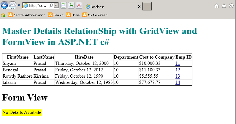 cognos 8 master detail relationship in