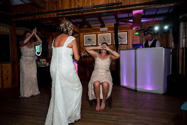 Bride and Bridesmaids at Reception