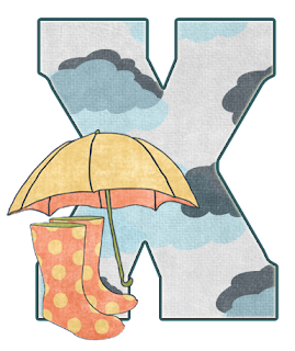 Abecedario Día de Lluvia. Raining Day Alphabet.