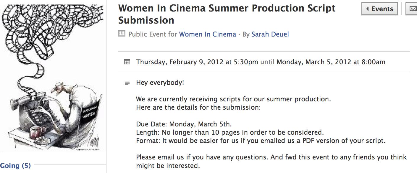 women in cinema blog script reading and workshop. Black Bedroom Furniture Sets. Home Design Ideas