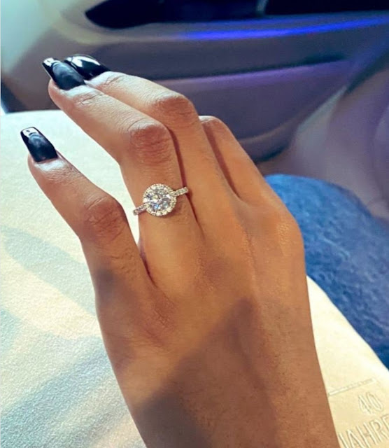 South African Rapper AKA Officially engaged to Nelli Tembe shares pictures of her engagement ring