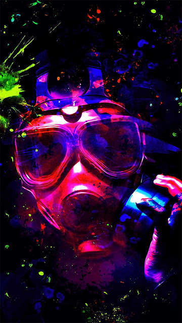 16 Mask, Colored Smoke, Anonymous, Hood, Hoodie Wallpapers HD 4K for iPhone and Android