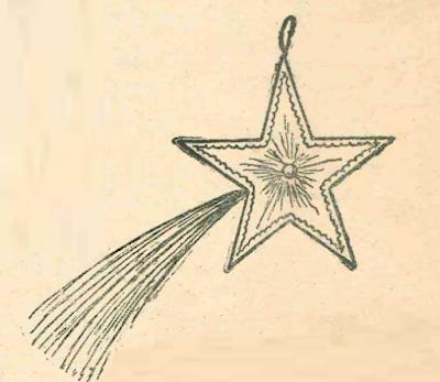 Звезда комета из бумаги