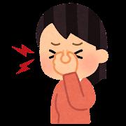 眼精疲労のイラスト(女性)