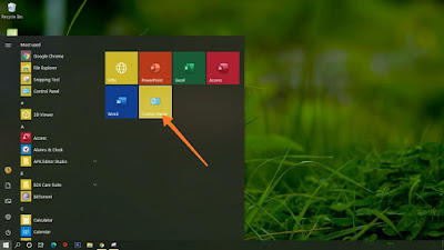 How To Add Control Panel To Start Menu In Windows 10