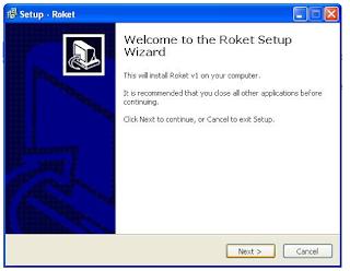 instal software Roket Pulsa
