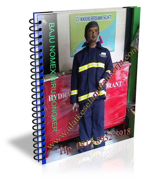 Peralatan Baju Pemadam Kebakaran NomexIIIA Biru Dongker