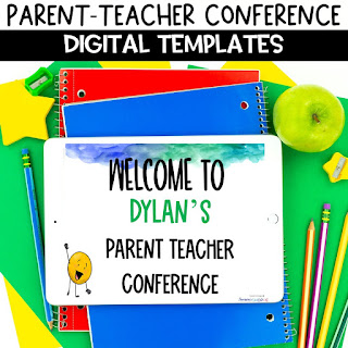 Virtual parent teacher conference materials ready made for your classroom
