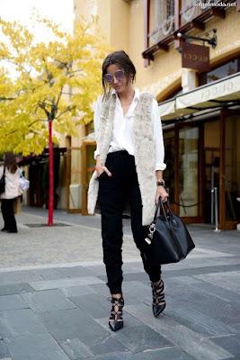 Abrigos de moda de piel
