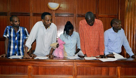 Photos of  Five People Including A Canadian Arraigned In Connection With Kenyan's Terror Attack