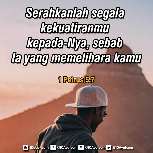 1 Petrus 5:7