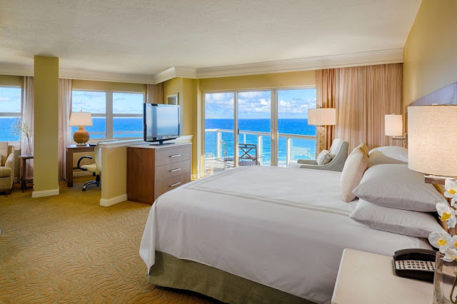 Fort Lauderdale Marriott Pompano Beach Resort & Spa's oceanfront location and modern hotel rooms will delight families and business travelers alike.