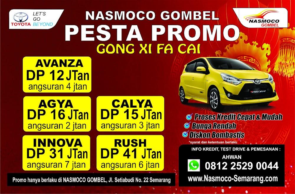 Promo Spesial Uang Muka Kredit Ringan Dealer Nasmoco Toyota Gombel Semarang Bulan Februari 2018.