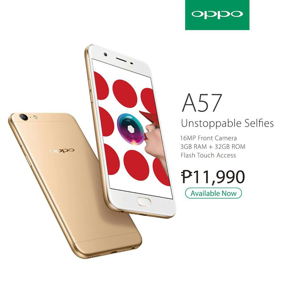 OPPO A57 Now Official For Php11,990