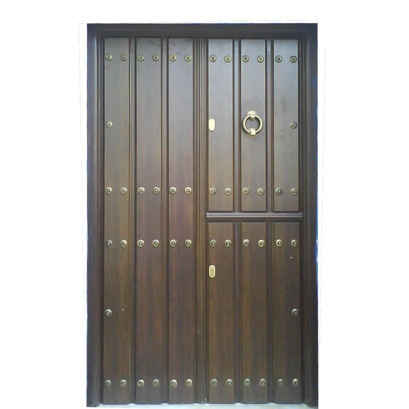Puertas rusticas en aluminio for Puertas antiguas de madera de 2 hojas