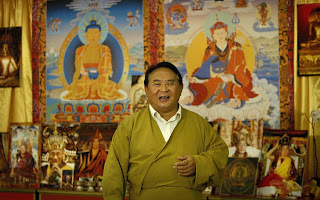 Sogyal Rinpoche as a guest speaker at a healing seminar in Melbourne in 2004 CREDIT: GETTY IMAGES