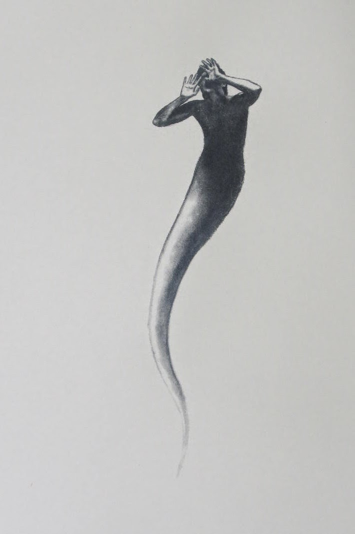 Sperm Man. Charcoal and Conte on 300 weight paper. 10x8 inches. 2010 F. Lennox Campello