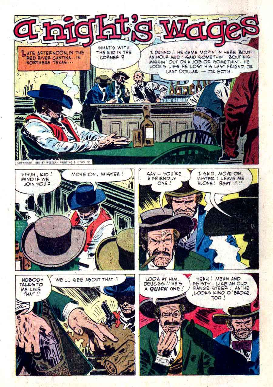 Wyatt Earp v2 #31 - Alex Toth dell western 1960s silver age comic book page art
