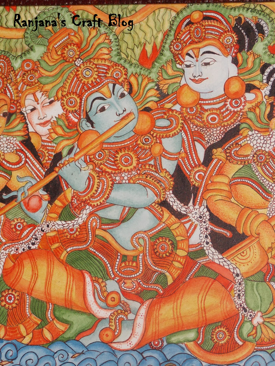 Kerala mural paintings of gods from gods own country for Canvas mural painting