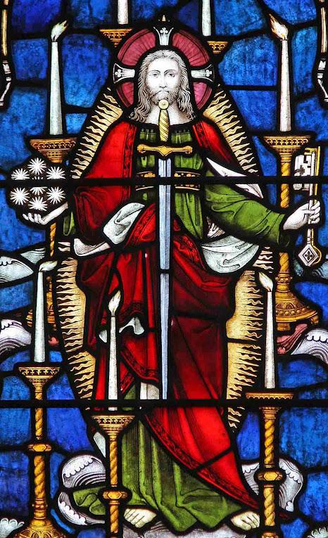Jesus volta à Terra para fulminar o Anticristo, Exeter College chapel, Oxford