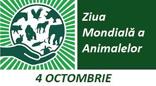 4 octombrie: Ziua Mondială a Animalelor